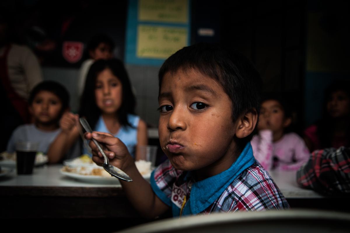 Suppenküche im Armenviertel